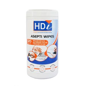 Boite distributrice - 120 lingettes humides désinfectantes - ST0184