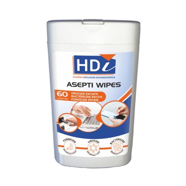 Boite distributrice - 60 lingettes humides désinfectantes - ST0185
